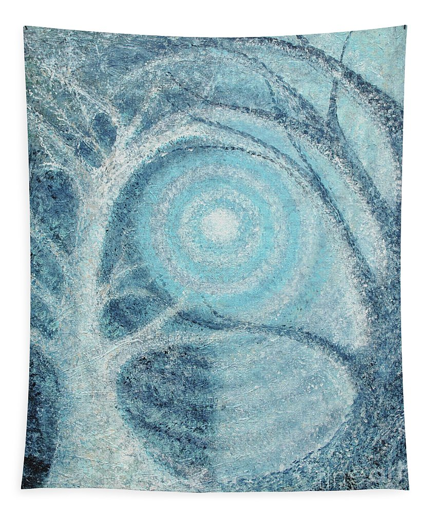 Trees Tapestry featuring the painting Unity by Holly Carmichael