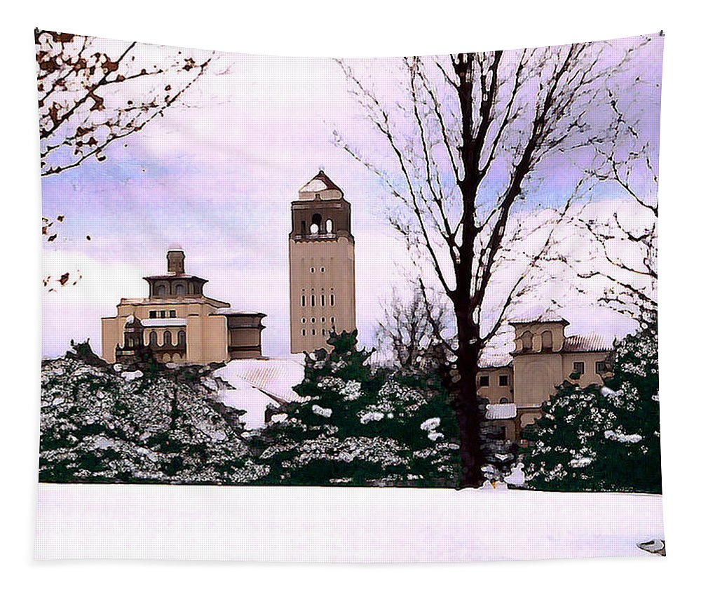 Landscape Tapestry featuring the photograph Unity Village by Steve Karol