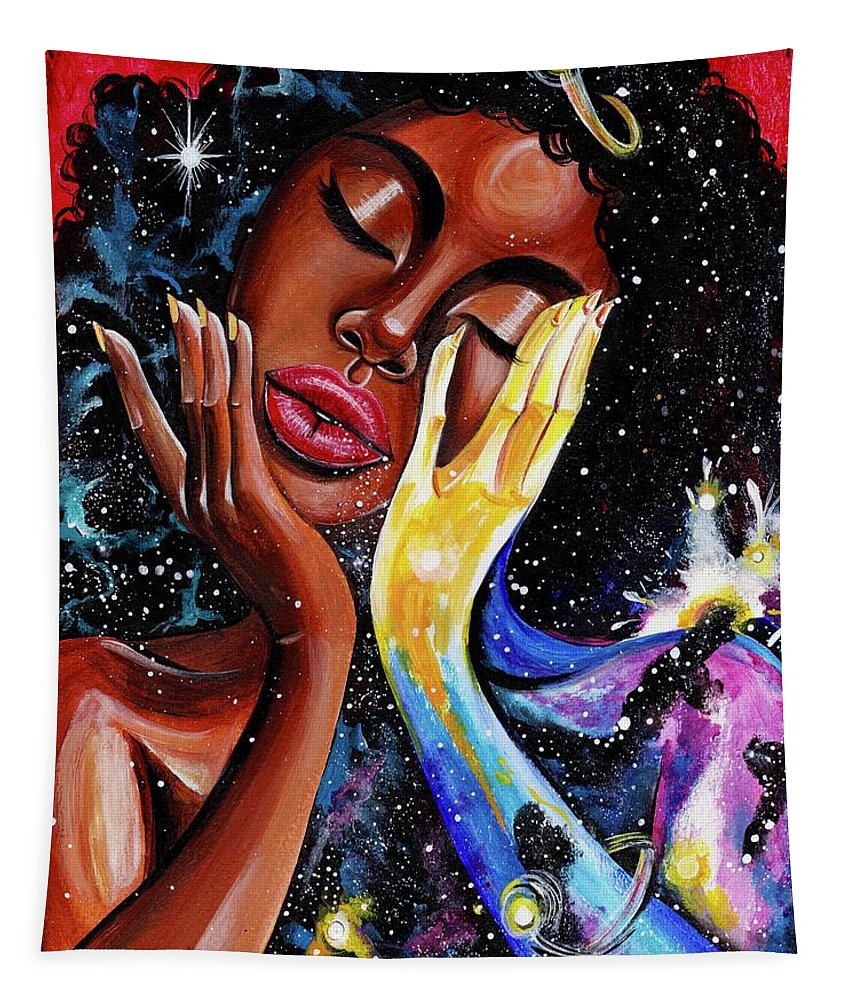 Universe Tapestry featuring the painting Unlocked U.Never.See.All by Artist RiA
