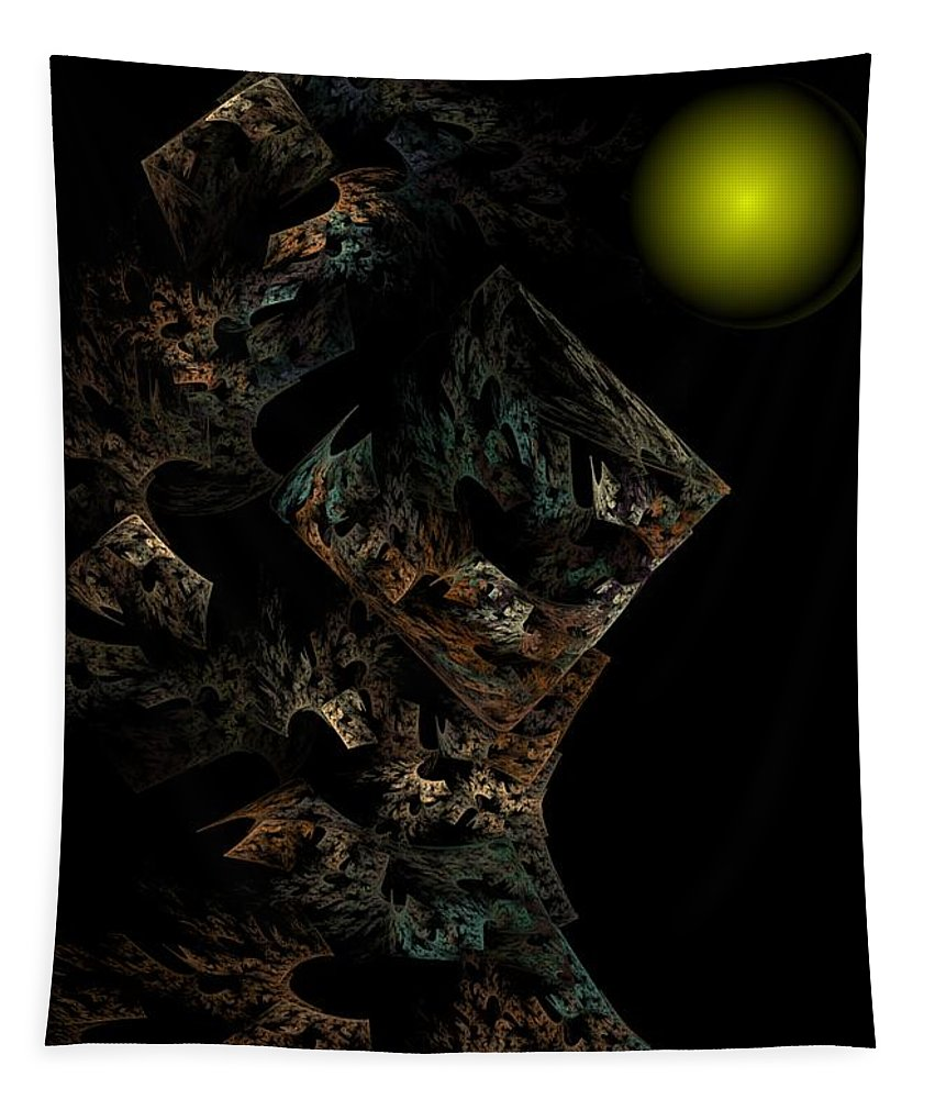 Fantasy Tapestry featuring the digital art Untitled 12-18-09 by David Lane