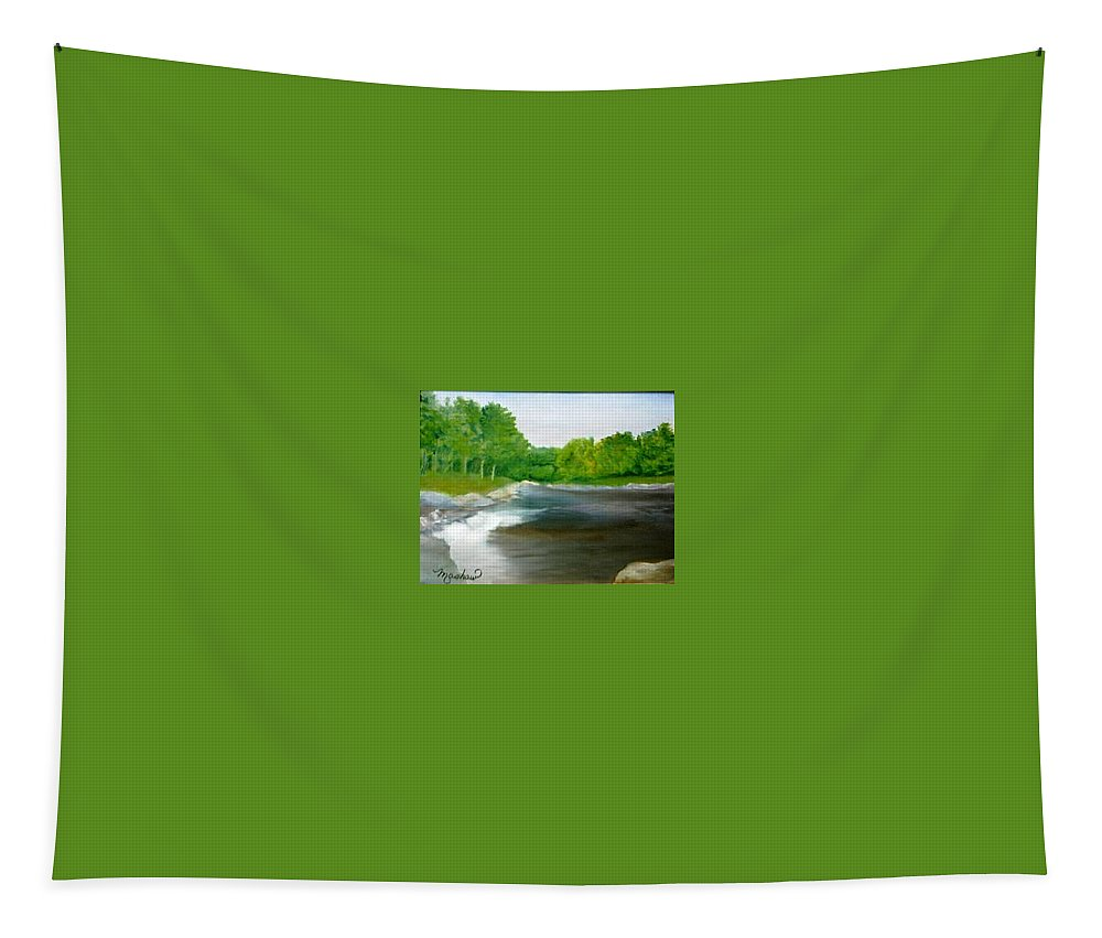 River Tapestry featuring the painting Untitled Plein Aire by Sheila Mashaw