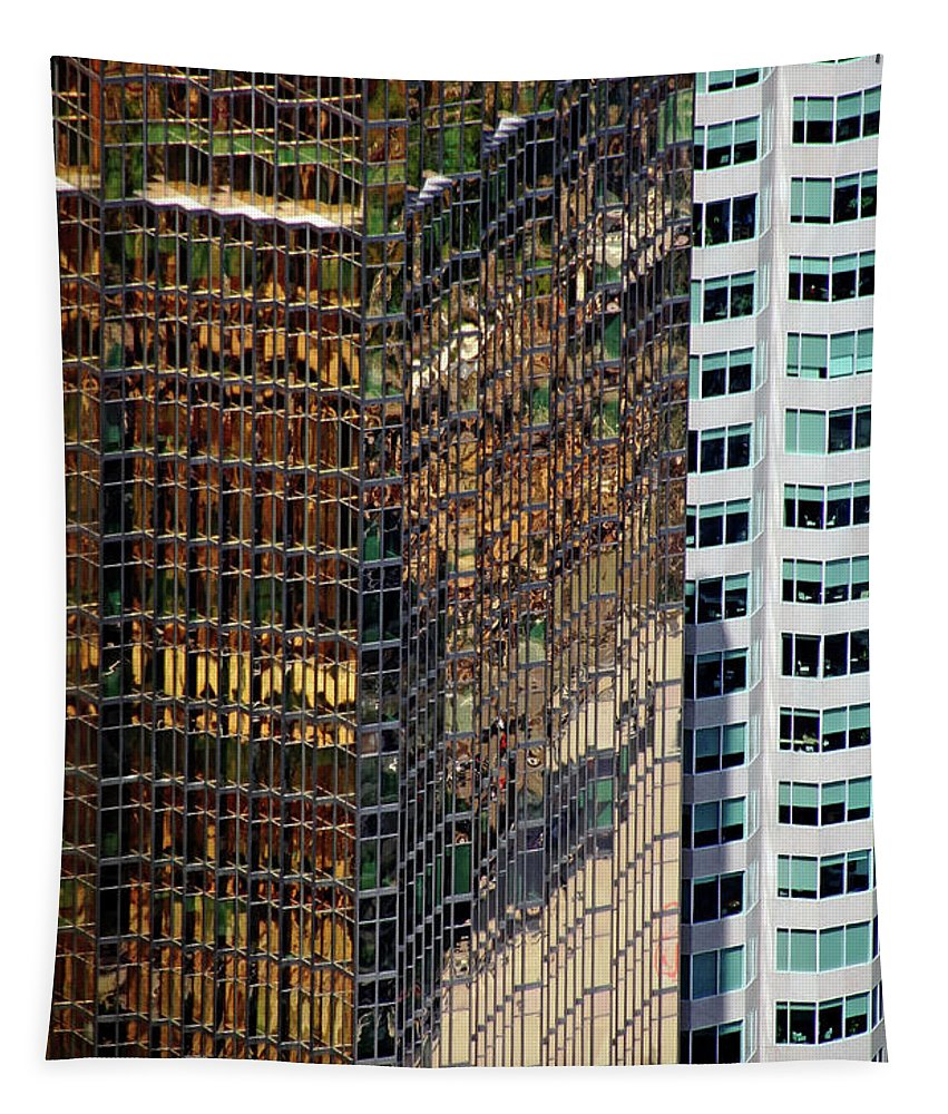 Architecture Tapestry featuring the photograph Urban Contrast by Debbie Oppermann
