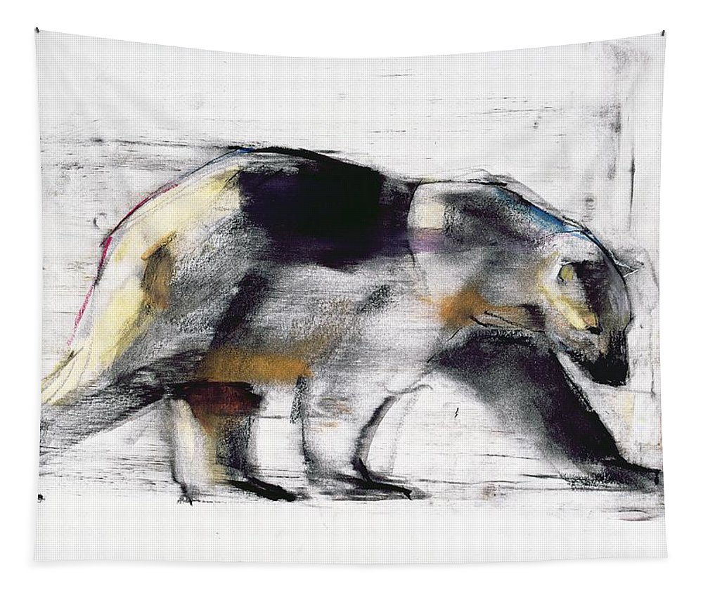 Polar Bear Tapestry featuring the painting Ursus Maritimus by Mark Adlington
