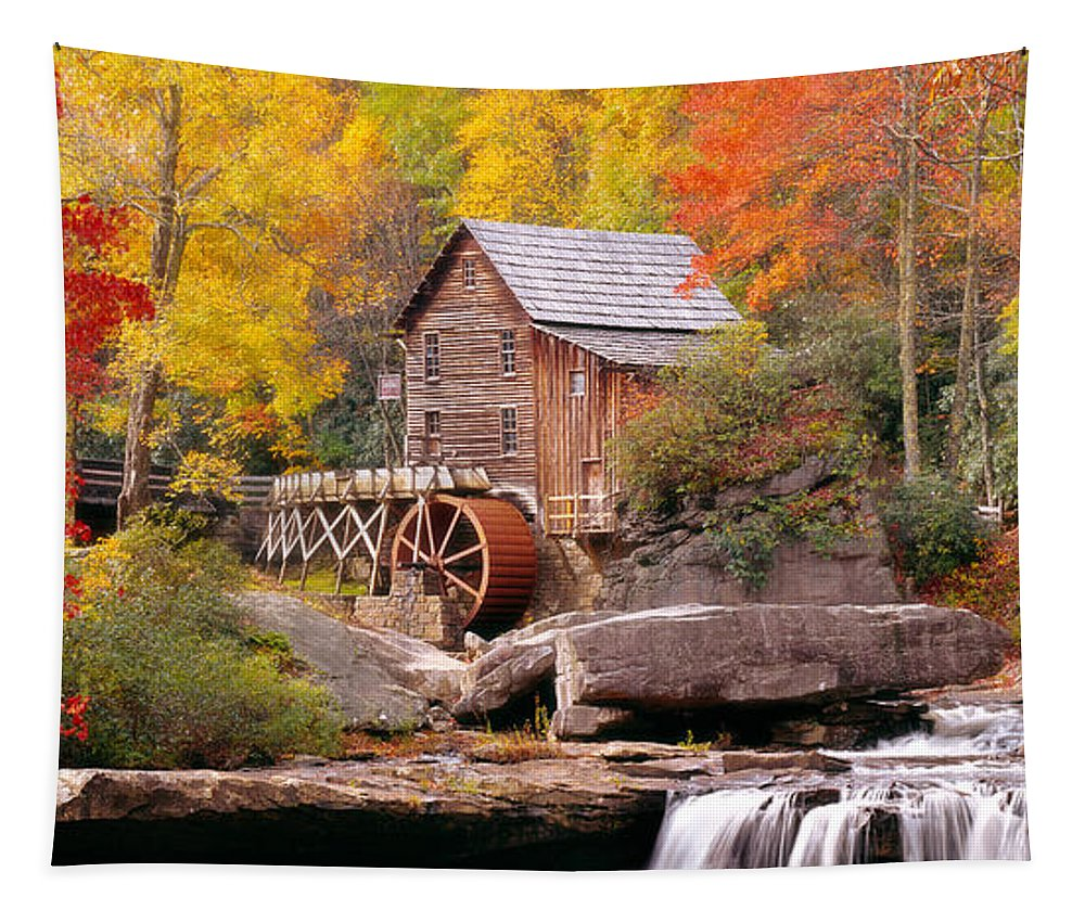 Photography Tapestry featuring the photograph Usa, West Virginia, Glade Creek Grist by Panoramic Images