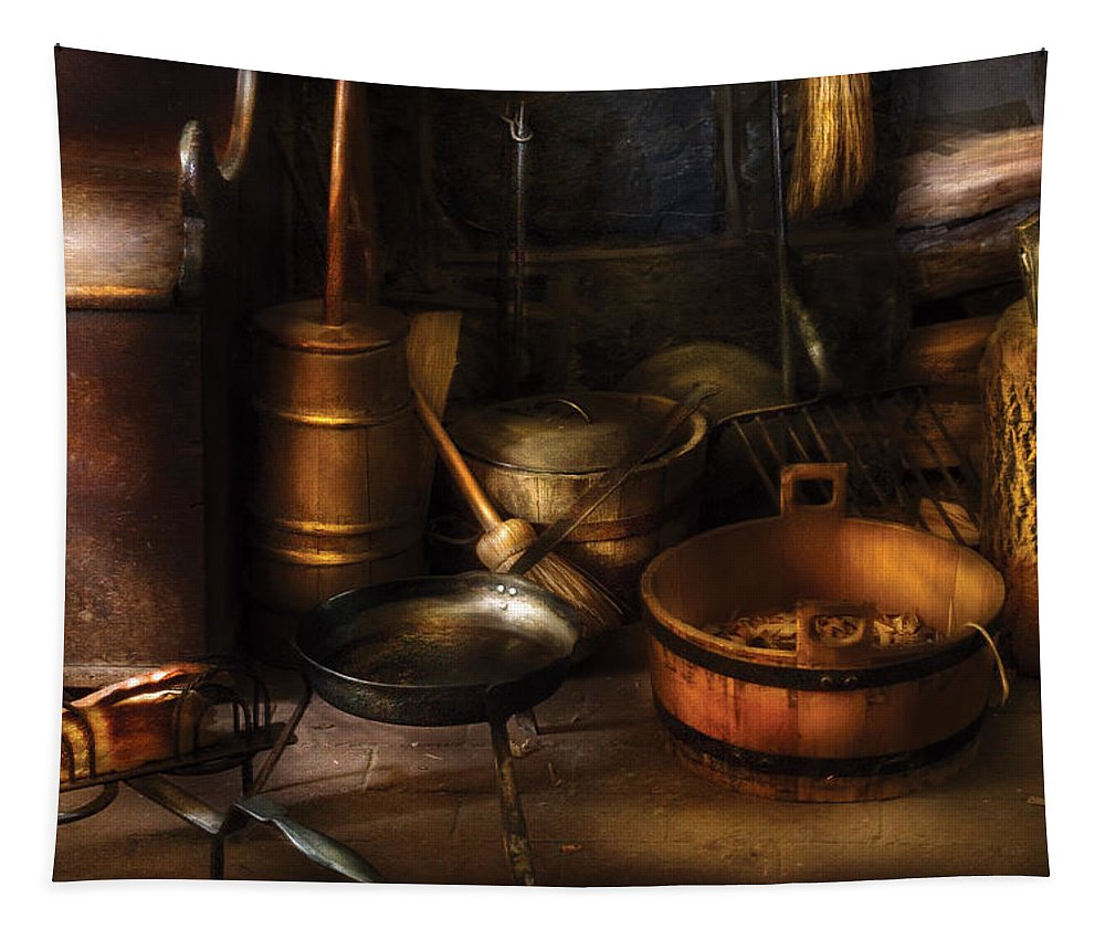 Savad Tapestry featuring the photograph Utensils - Colonial Utensils by Mike Savad