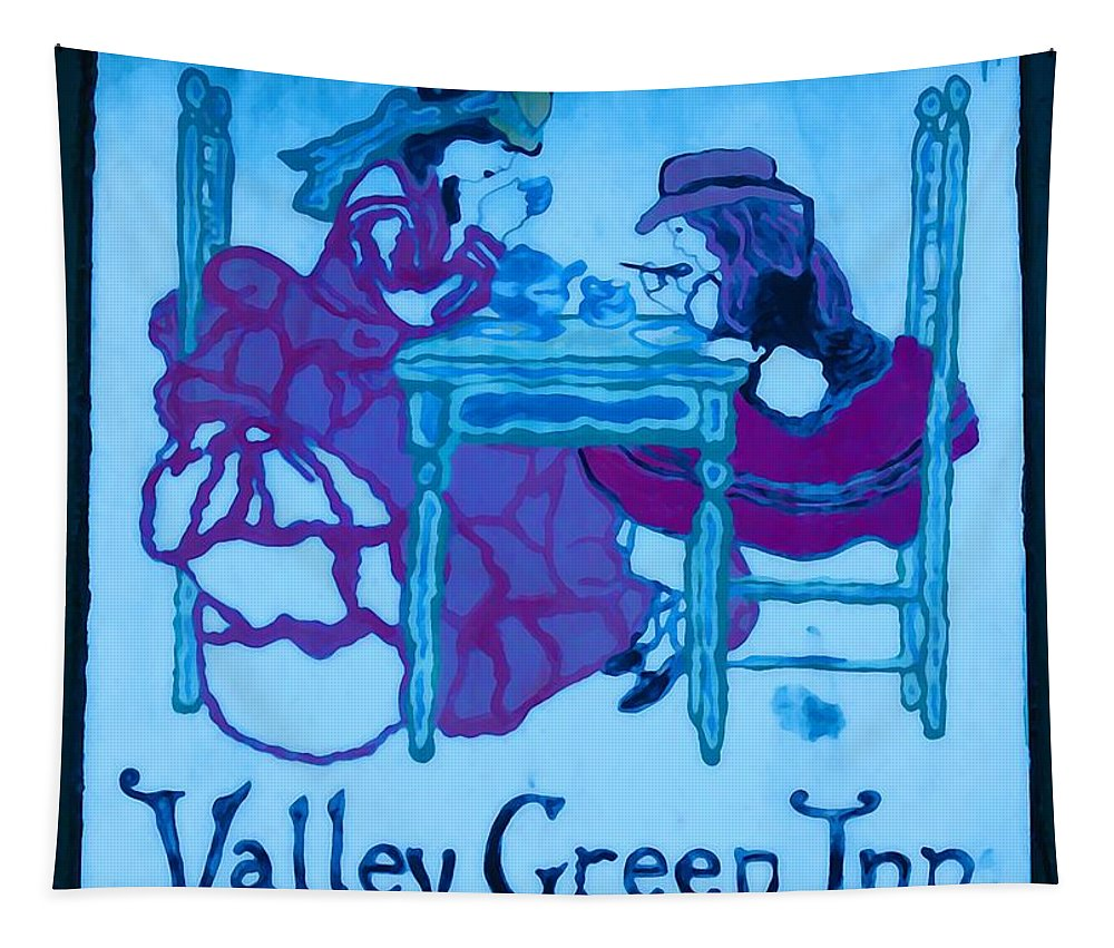 Valley Green Tapestry featuring the photograph Valley Green Inn by Bill Cannon
