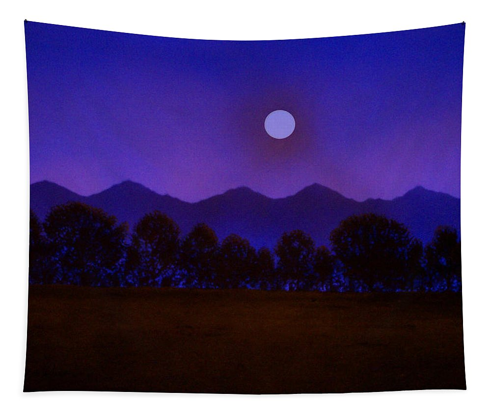 Night Tapestry featuring the painting Valley Light by Frank Wilson
