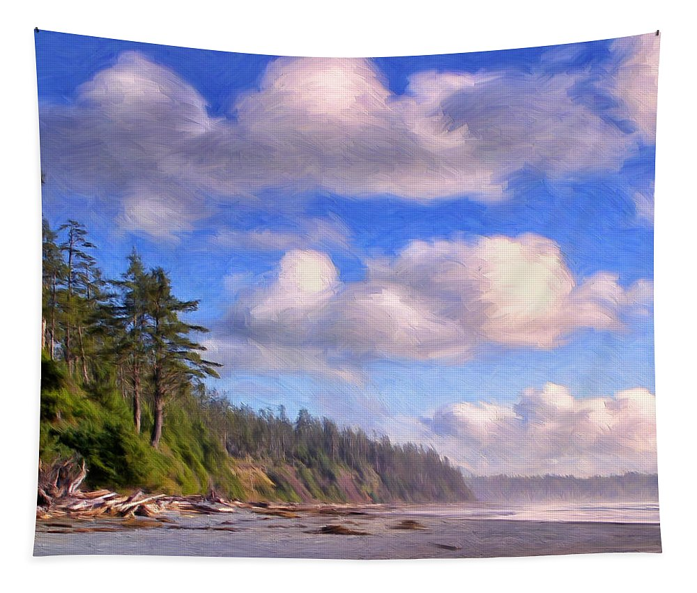 Vancouver Island Tapestry featuring the painting Vancouver Island by Dominic Piperata