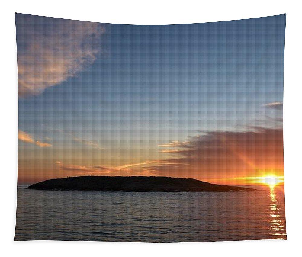 Lehtokukka Tapestry featuring the photograph Variations Of Sunsets At Gulf Of Bothnia 3 by Jouko Lehto