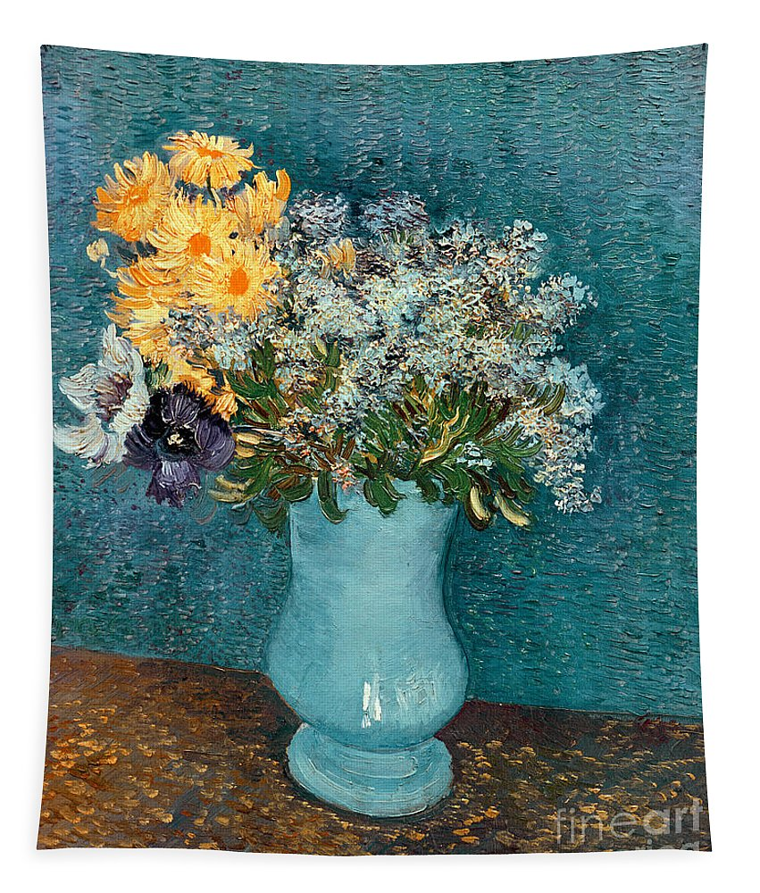 Vase Tapestry featuring the painting Vase Of Flowers by Vincent Van Gogh