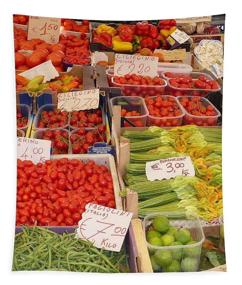 European Markets Tapestry featuring the photograph Vegetables At Italian Market by Carol Groenen
