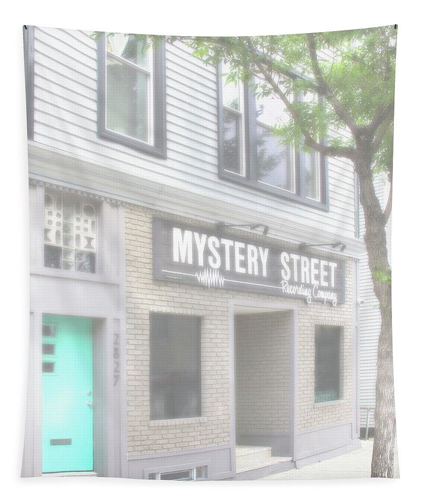 Fog Tapestry featuring the photograph Veiled Mystery Mystery Street by William Dey