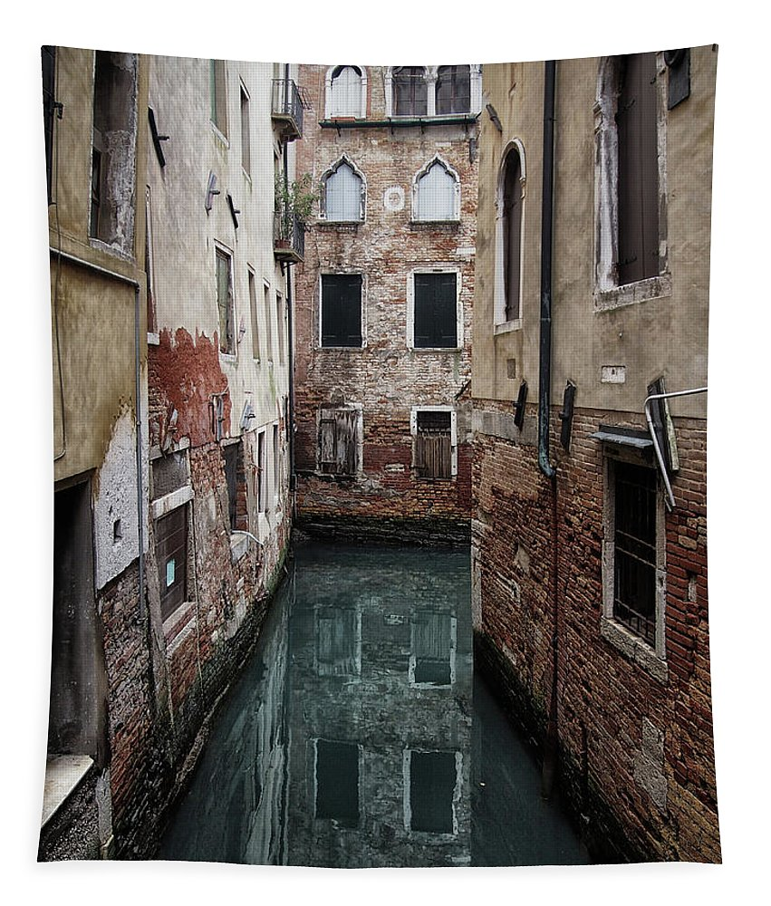 Venice Tapestry featuring the photograph Venice - Canal Dreams by Philip Openshaw