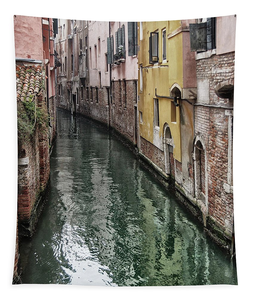 Venice Tapestry featuring the photograph Venice - Reflections by Philip Openshaw