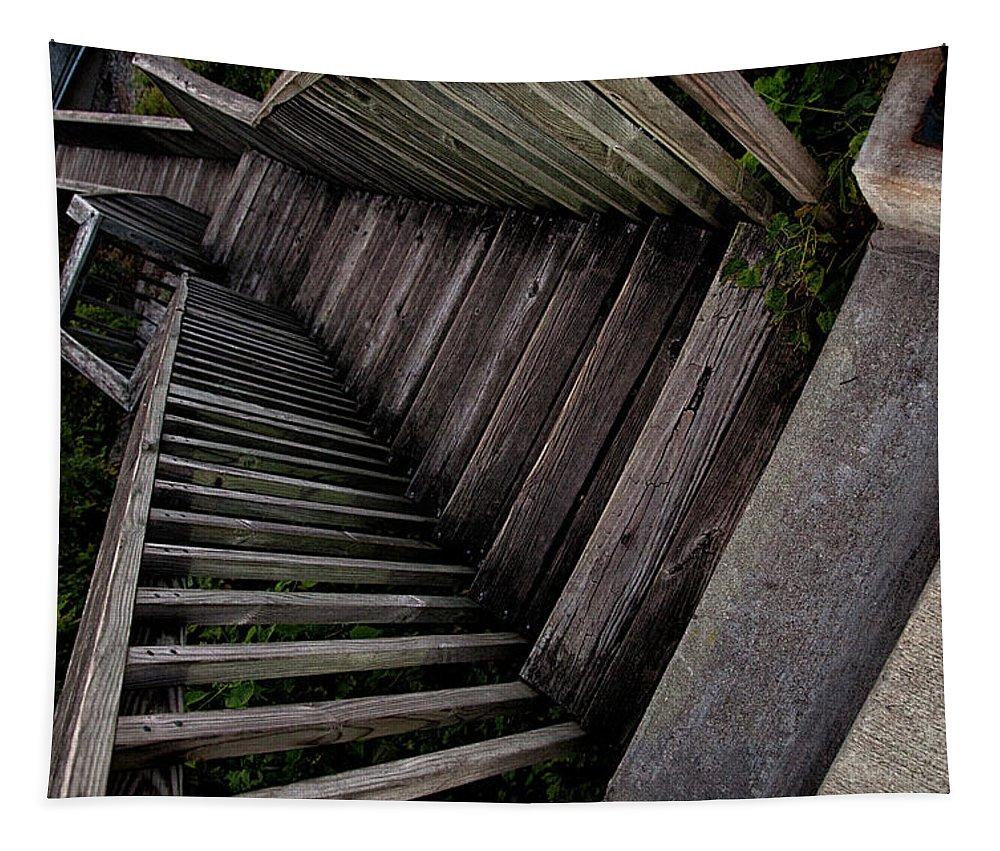 Vertigo Tapestry featuring the photograph Vertigo - Stairs To The Unknown by Mitch Spence