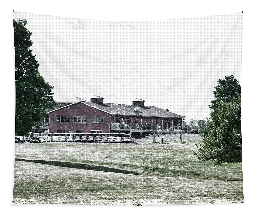 Tully New York Tapestry featuring the photograph Vesper Hills Golf Club Tully New York Pa 01 by Thomas Woolworth