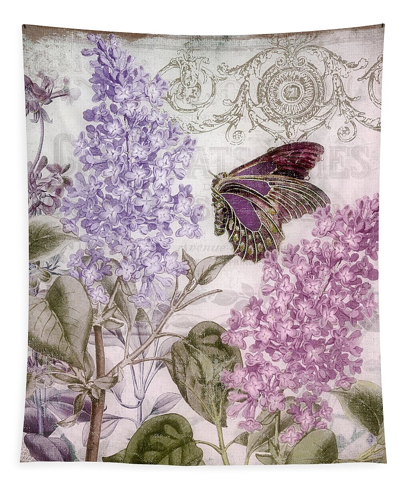 Lilac Tapestry featuring the painting Victorian Romance II by Mindy Sommers
