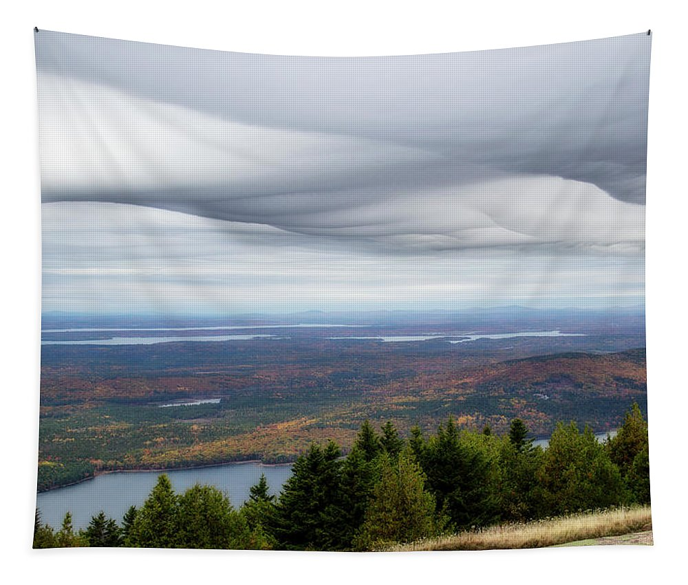 Cadillac Mountain Tapestry featuring the digital art View From Cadillac Mountain by Terry Davis