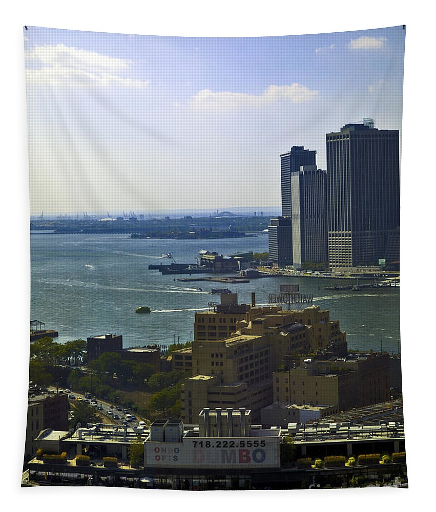 Manhattan Tapestry featuring the photograph View From Dumbo by Madeline Ellis