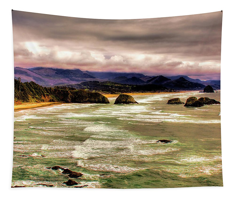 Cannon Beach Tapestry featuring the photograph View From Ecola II by David Patterson
