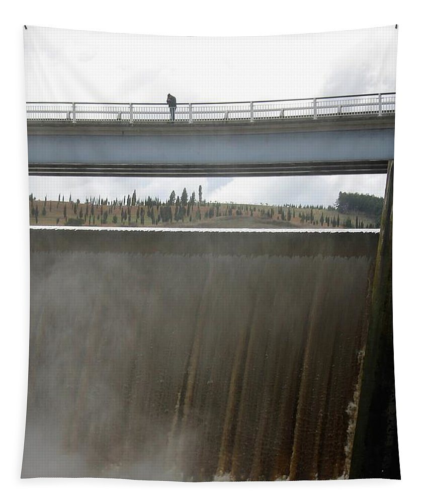 Landscape Tapestry featuring the photograph View From The Top by Anthony Croke