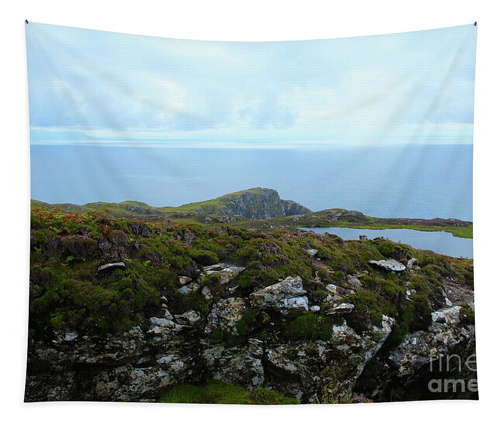 Landscape Tapestry featuring the photograph View From The Top by Eddie Barron