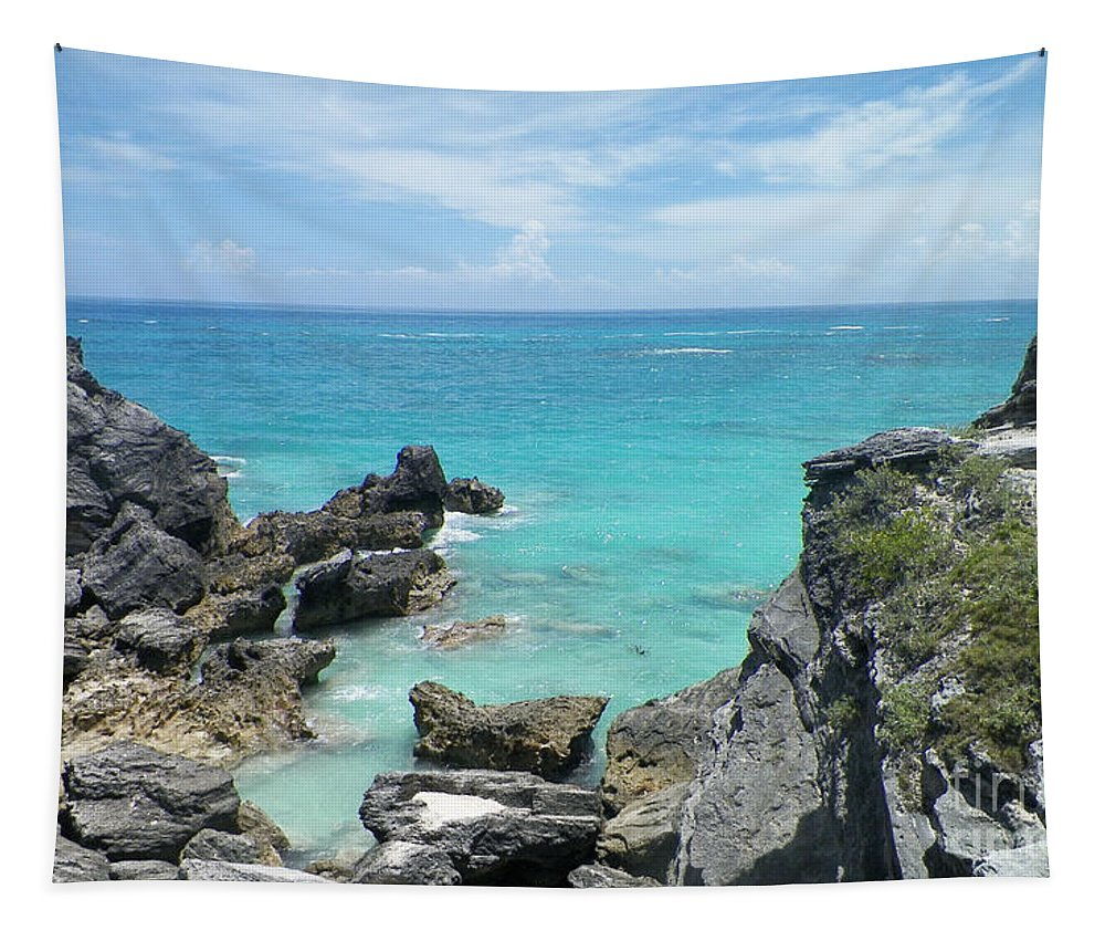 Bermuda Tapestry featuring the photograph View From The Top by Gina Sullivan