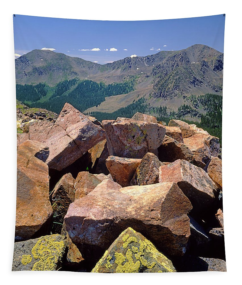 Rocks Tapestry featuring the photograph 214257-view Near Wheeler Trail by Ed Cooper Photography