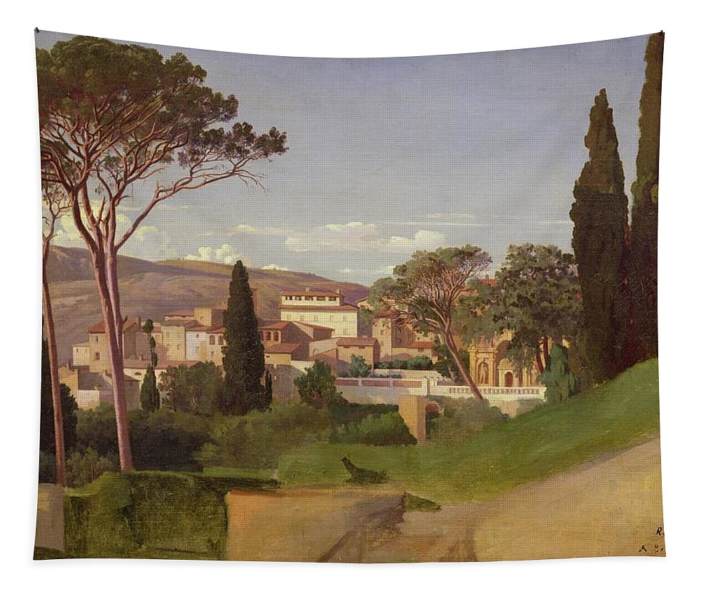 View Tapestry featuring the painting View Of A Villa by Jean Achille Benouville