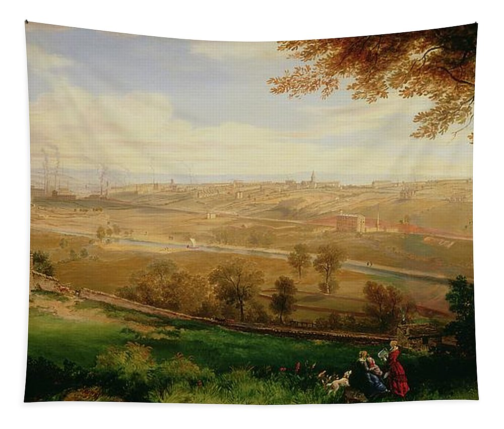 View Tapestry featuring the painting View Of Bradford by William Cowen