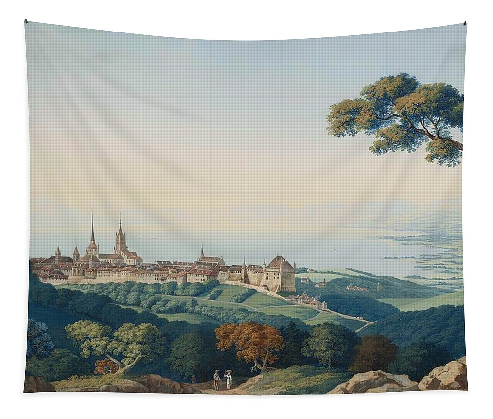 Painting Tapestry featuring the painting View Of Lucerne by Mountain Dreams