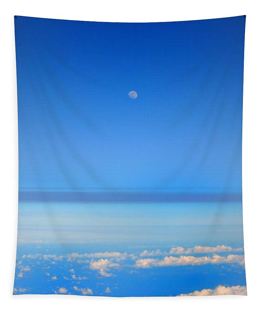 Stratosphere Tapestry featuring the photograph View Of The Moon From The Stratosphere by Bill Cannon