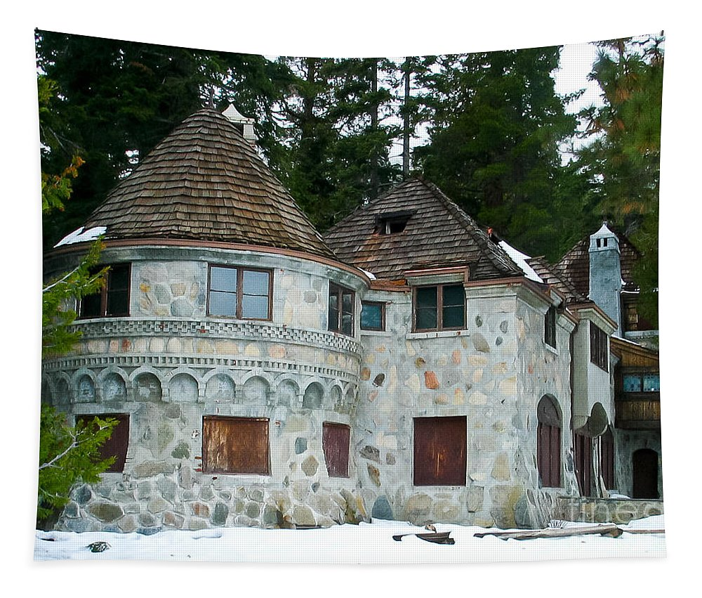 Vikingsholm Tapestry featuring the photograph Vikingsholm by Mitch Shindelbower