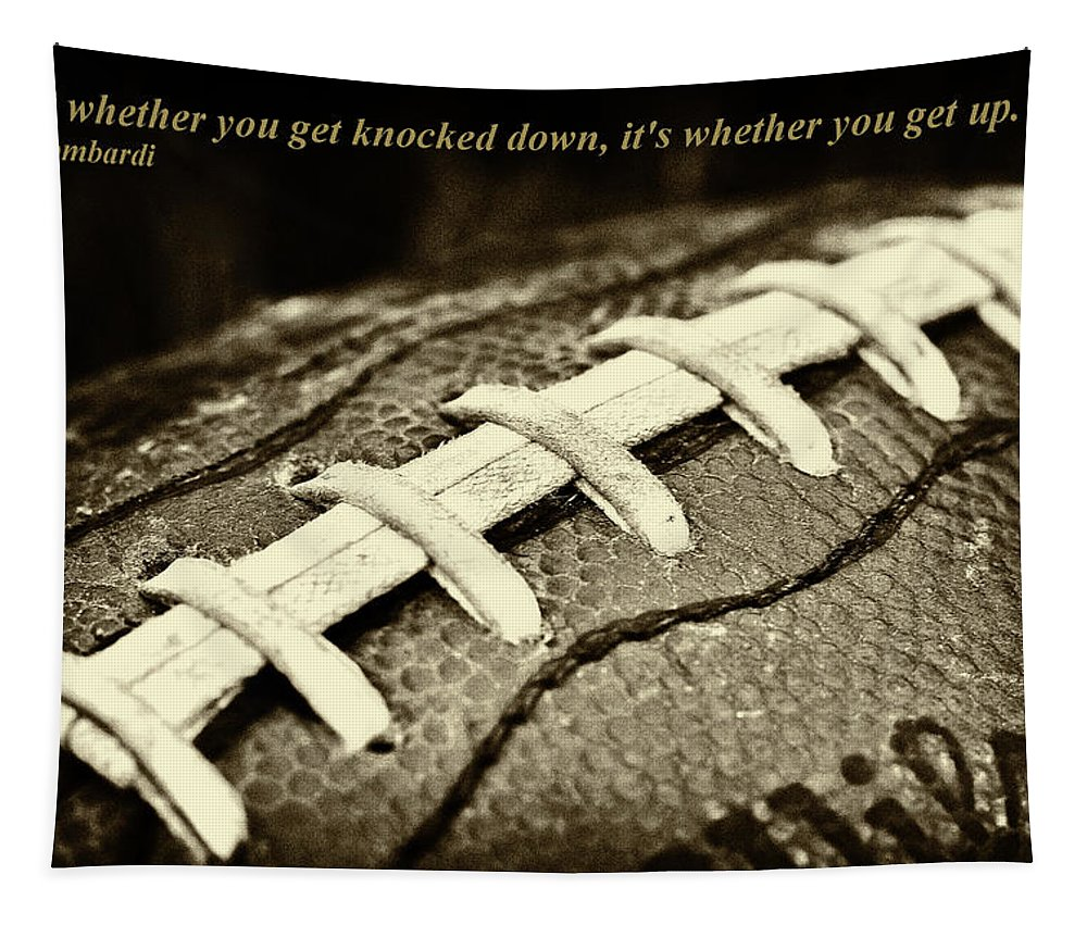 Football Is Like Life Tapestry featuring the photograph Vince Lombardi Quote by David Patterson
