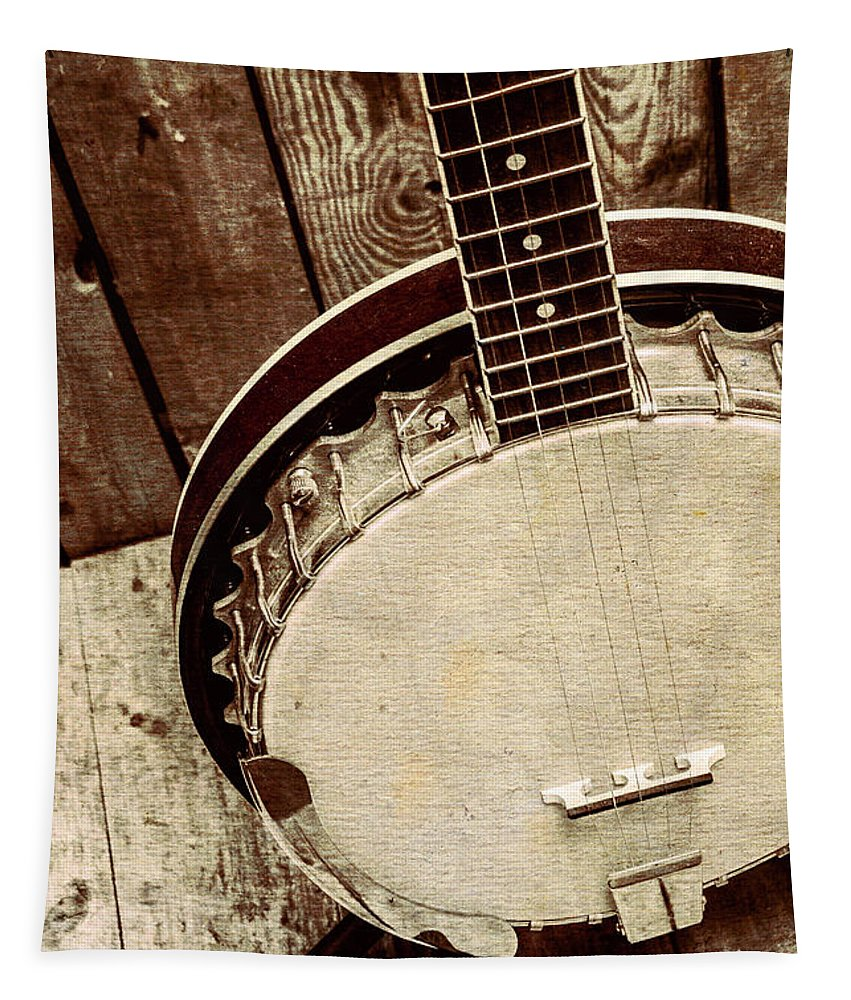 String Tapestry featuring the photograph Vintage Banjo Barn Dance by Jorgo Photography - Wall Art Gallery