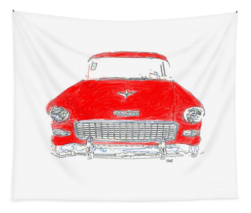 Chevy Tapestry featuring the photograph Vintage Chevy by Edward Fielding