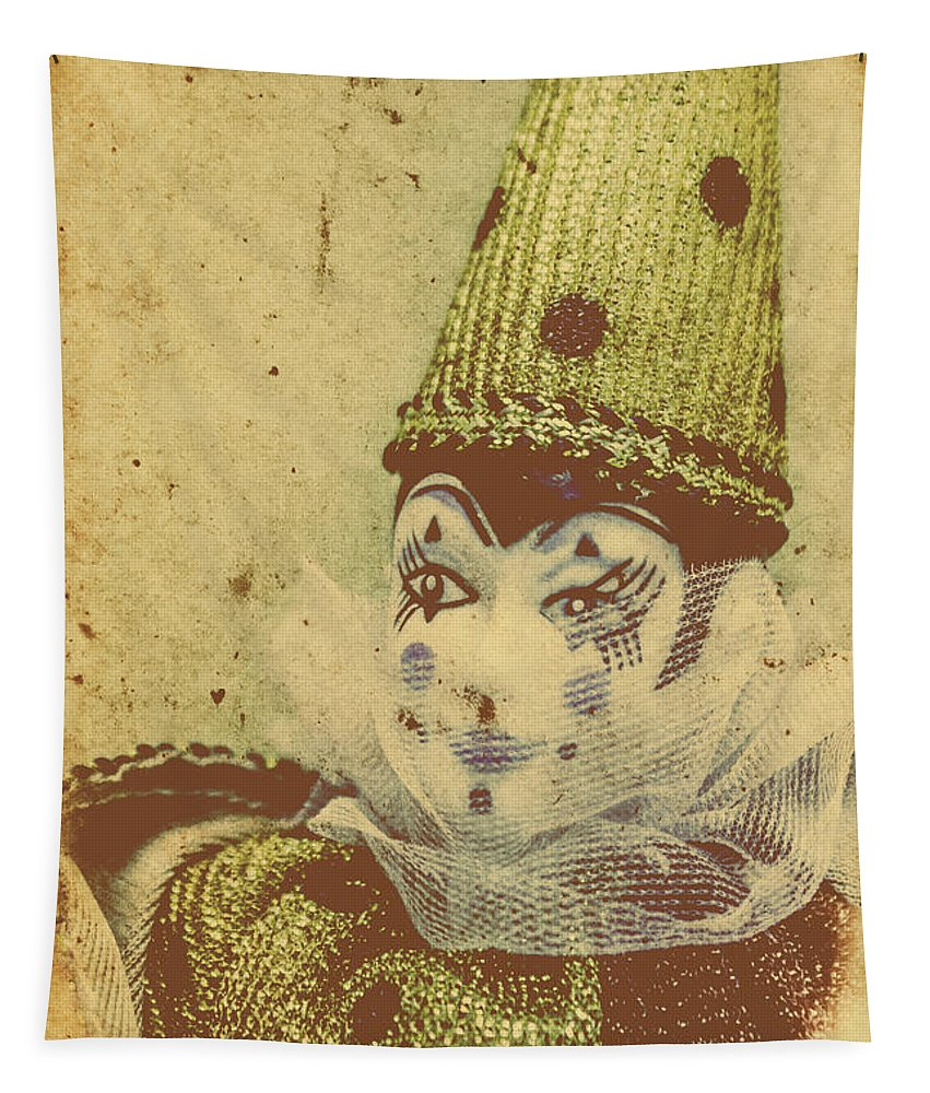 Vintage Tapestry featuring the photograph Vintage Circus Postcard by Jorgo Photography - Wall Art Gallery