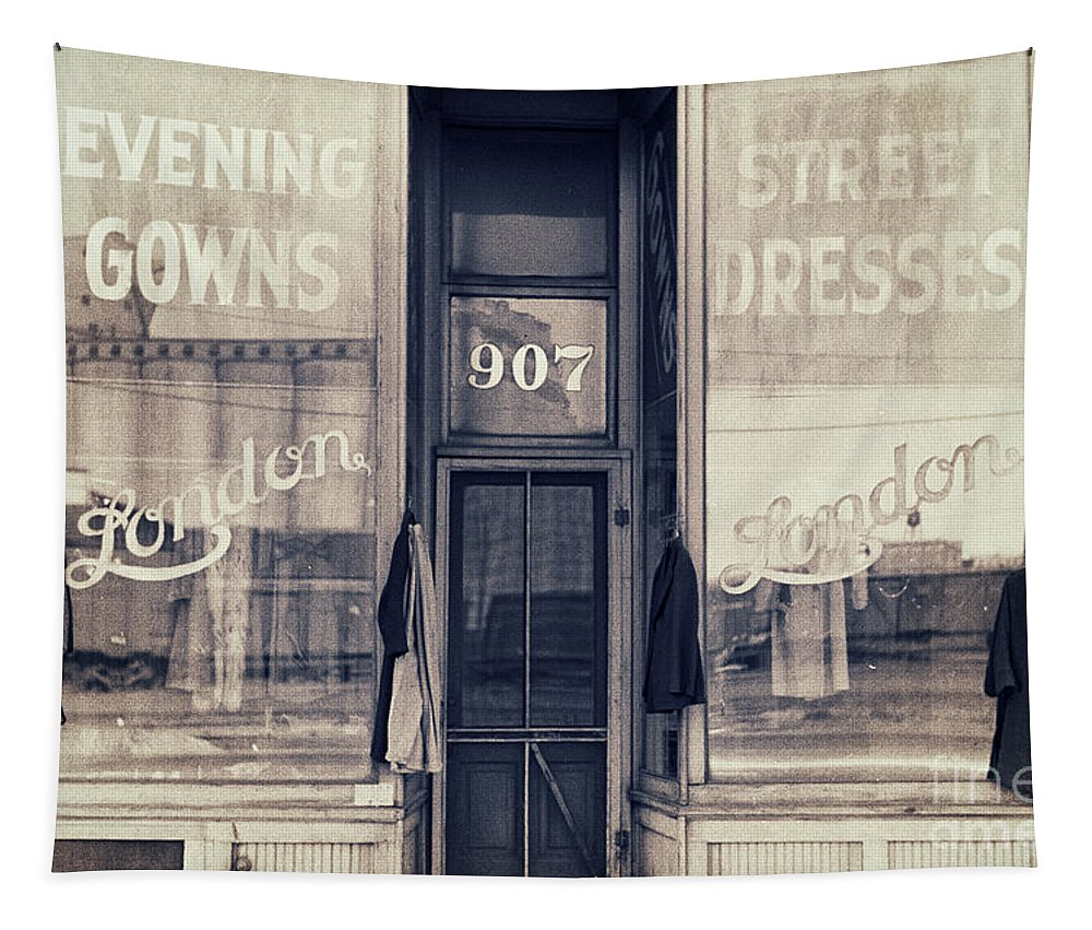 Dress Shop Tapestry featuring the painting Vintage Dress Shop by Mindy Sommers