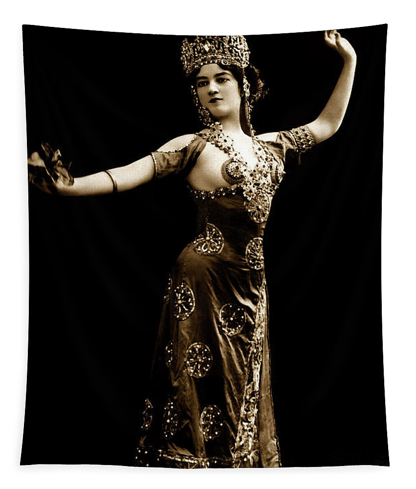 Vintage Tapestry featuring the photograph Vintage Exotic Dancer by R Muirhead Art