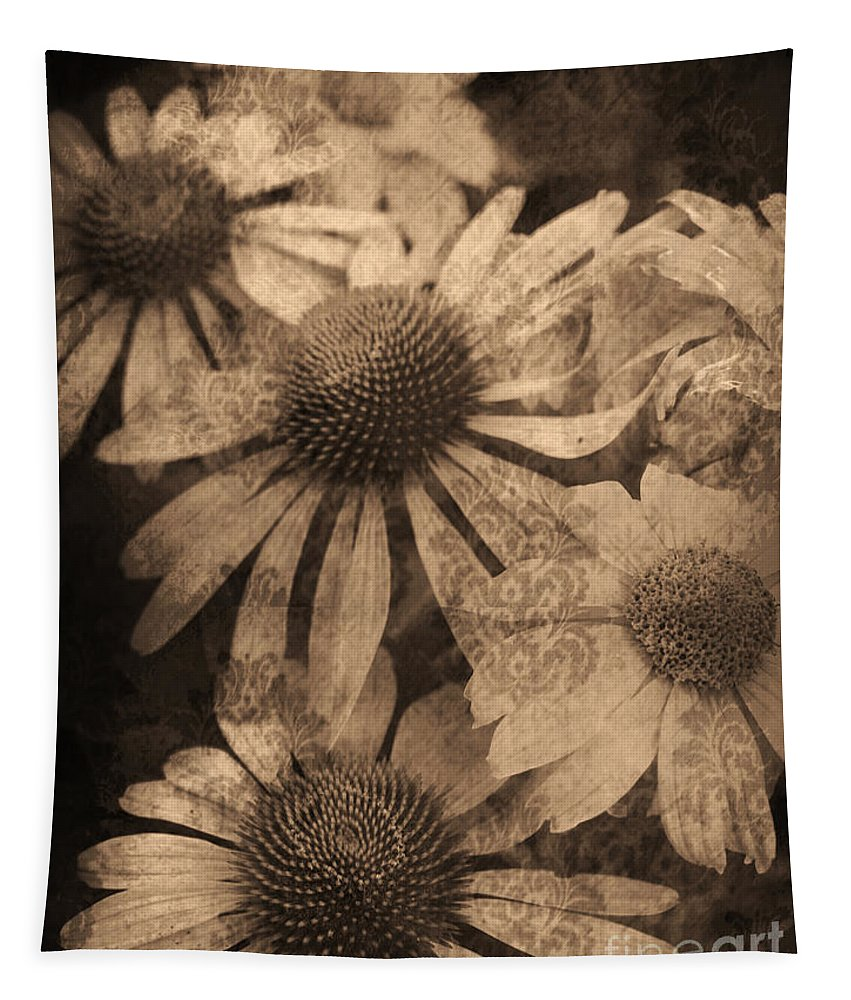 Vintage Tapestry featuring the photograph Vintage Flowers by Tara Turner
