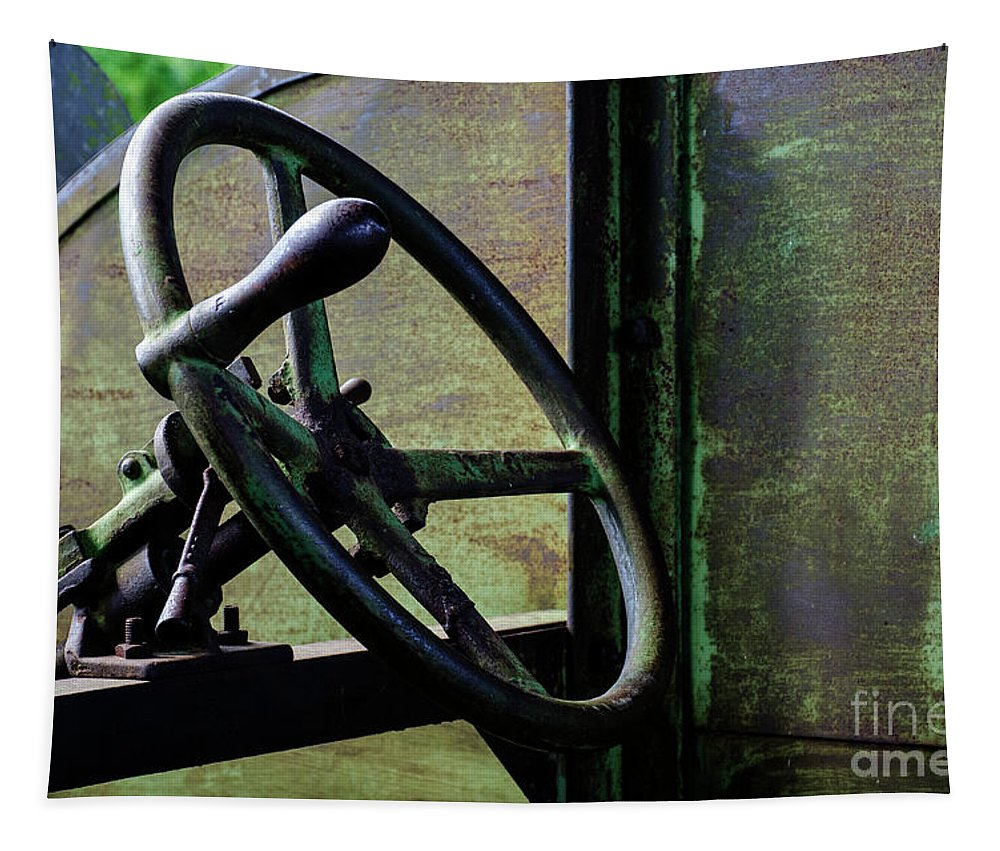 Wheel Tapestry featuring the photograph Vintage Machinery 5 by Bob Christopher