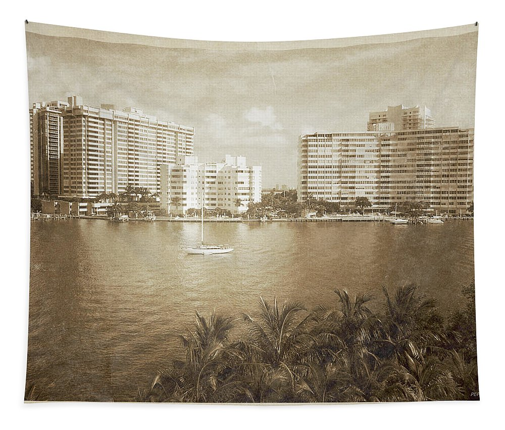 Miami Beach Tapestry featuring the photograph Vintage Miami Beach by Phil Perkins