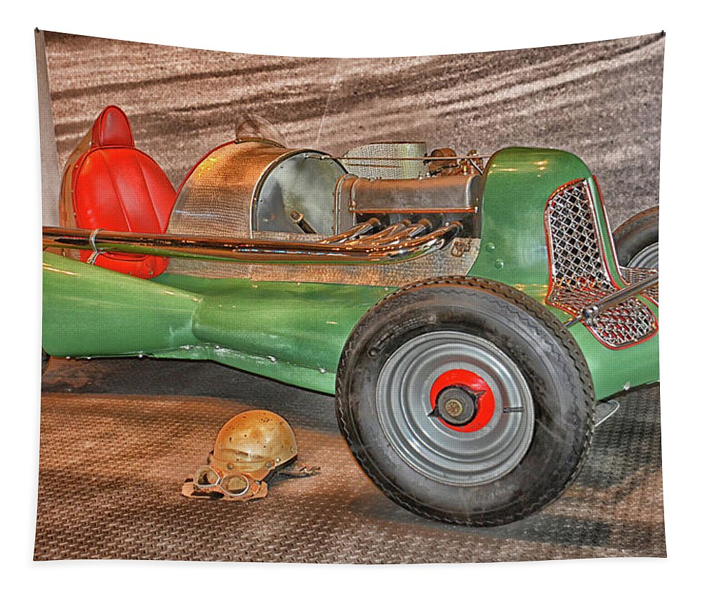 Auto Tapestry featuring the photograph Vintage Midget Racer by Mike Martin