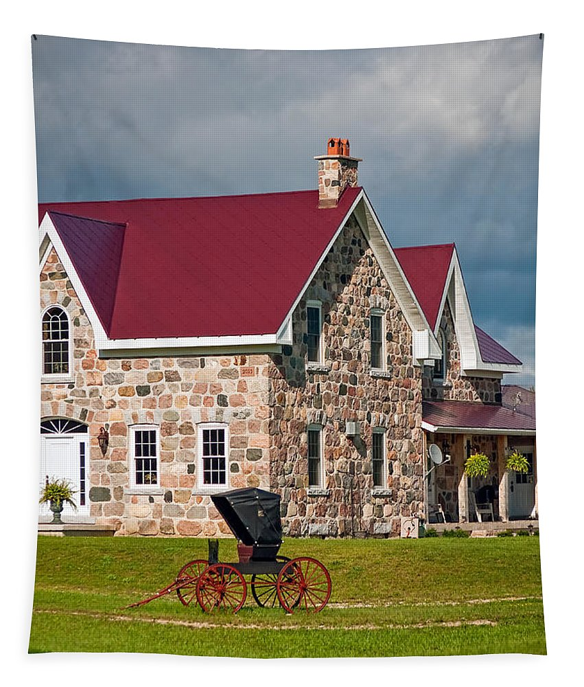 Ontario Tapestry featuring the photograph Vintage Ontario by Steve Harrington