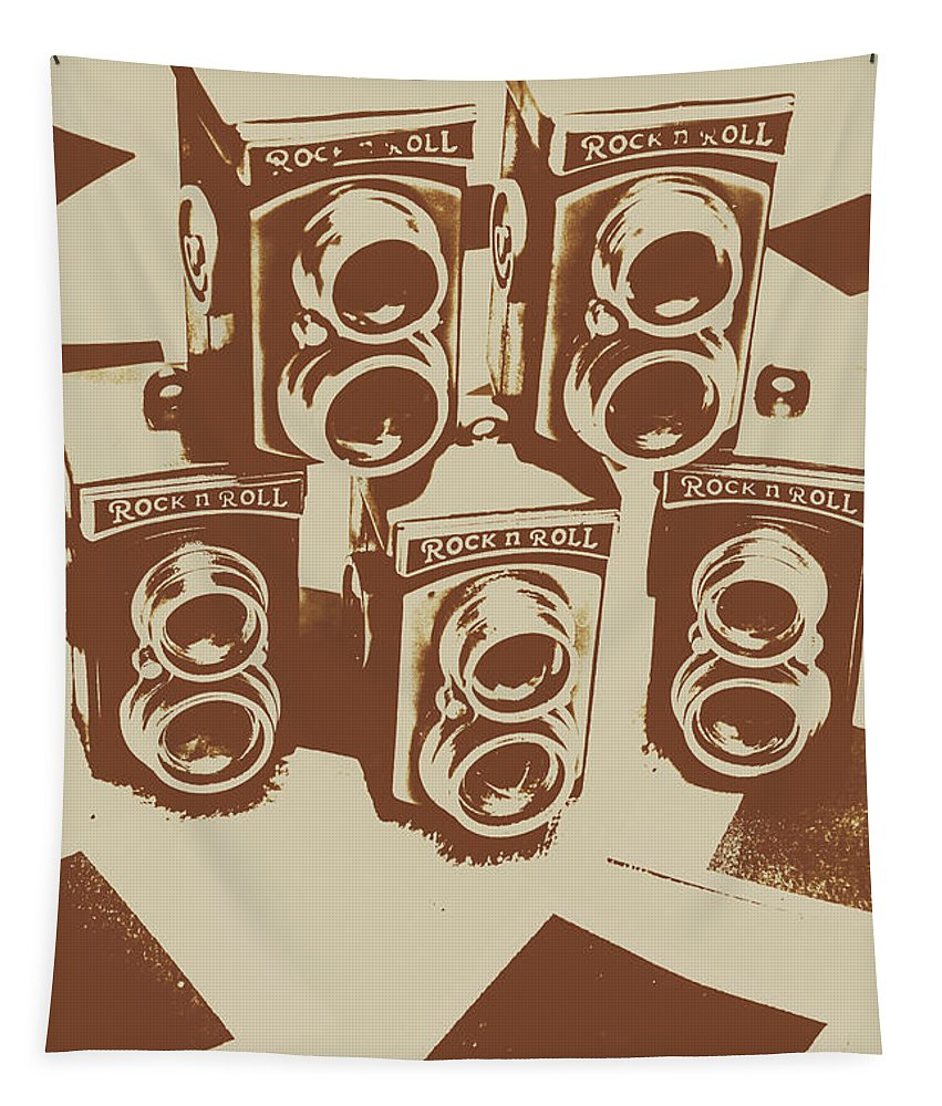 Vintage Tapestry featuring the photograph Vintage Snapshots And Old Cameras by Jorgo Photography - Wall Art Gallery