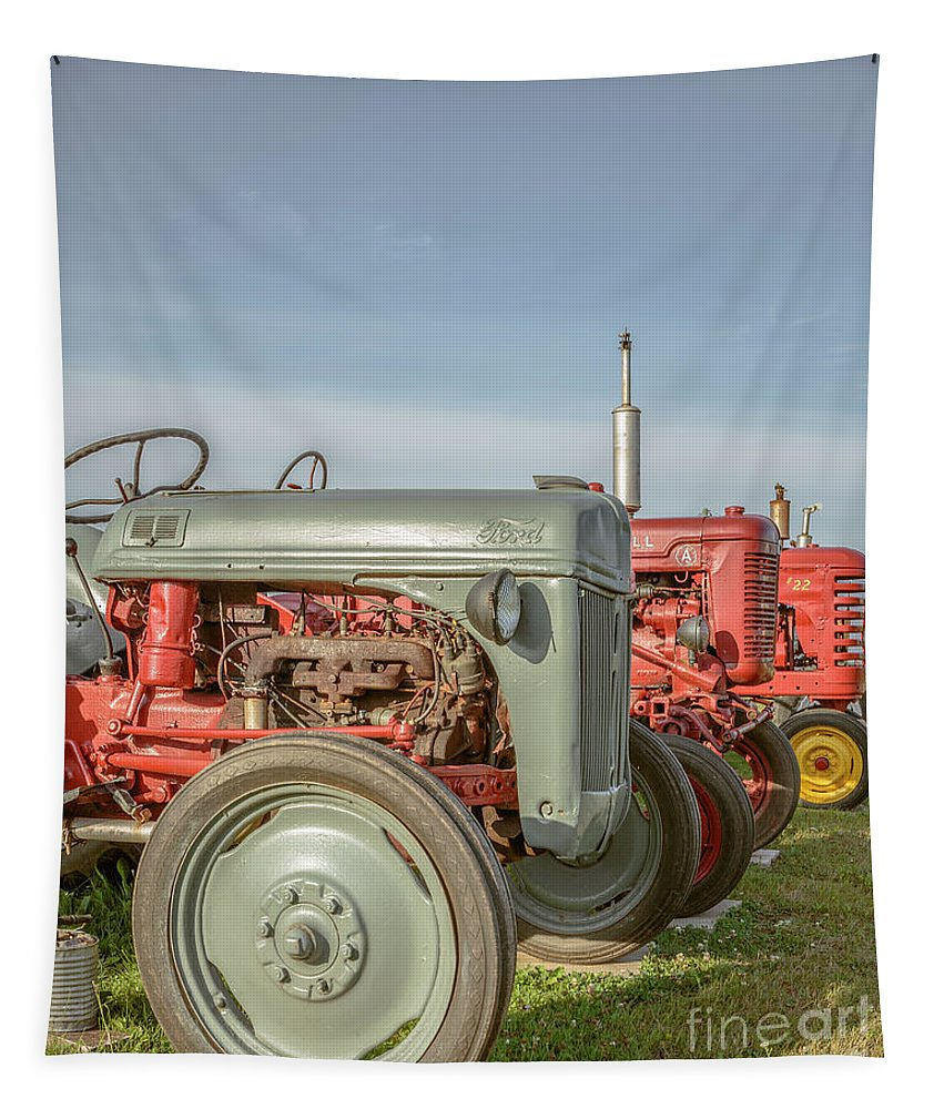 Farm Tapestry featuring the photograph Vintage Tractors Prince Edward Island by Edward Fielding
