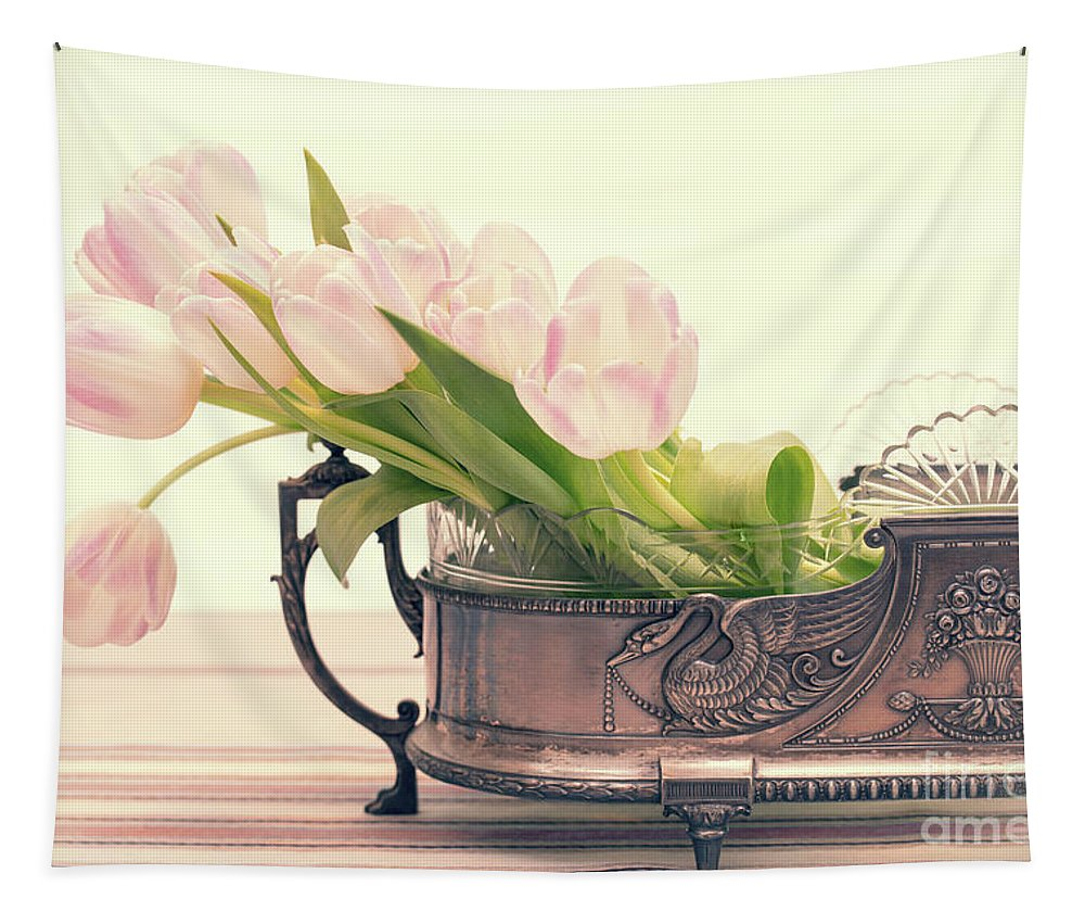 Flower Tapestry featuring the photograph Vintage Tulips by Delphimages Photo Creations