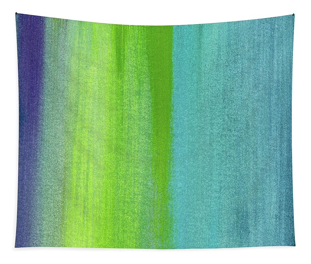 Abstract Tapestry featuring the painting Vishnu- Art by Linda Woods by Linda Woods