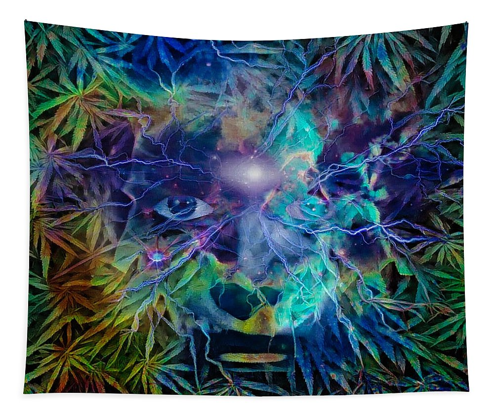 Person Tapestry featuring the digital art Vision by Bruce Rolff