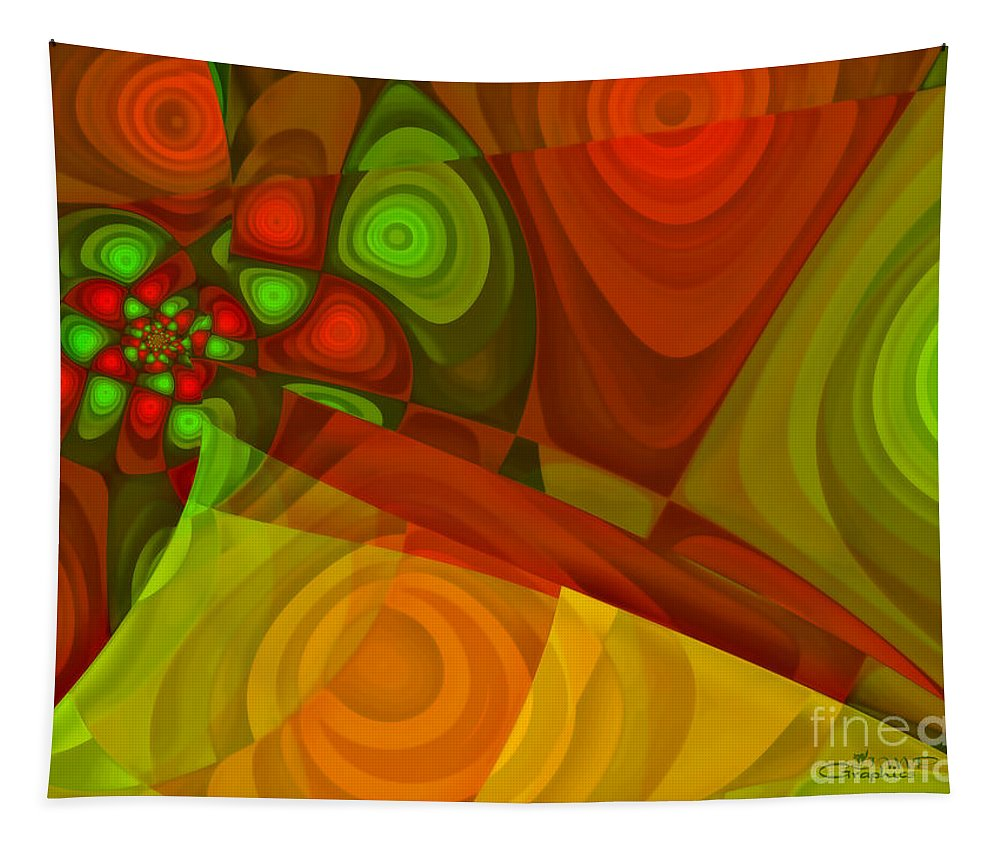 Fractal Tapestry featuring the digital art Vision Of Joy by Jutta Maria Pusl